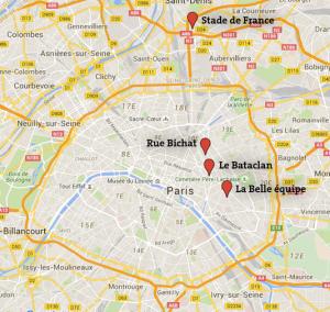 carte de l'attentat